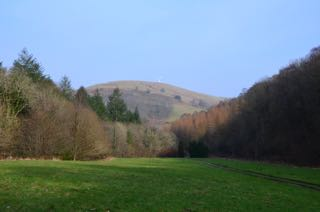 View of campsite valley